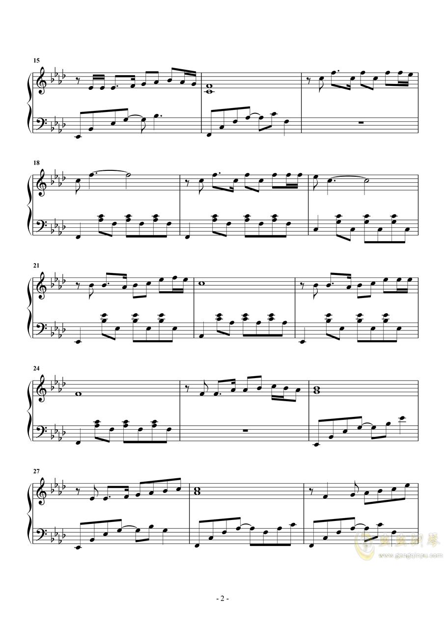 画 赵雷钢琴谱 第2页