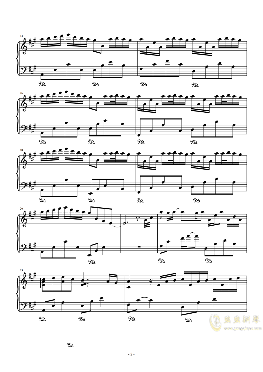 River flows in you(修改版)钢琴谱 第2页