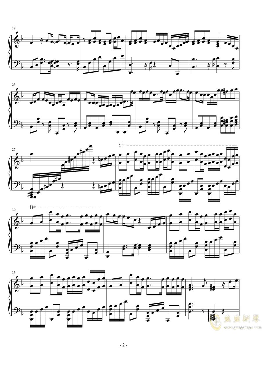记念钢琴谱 第2页