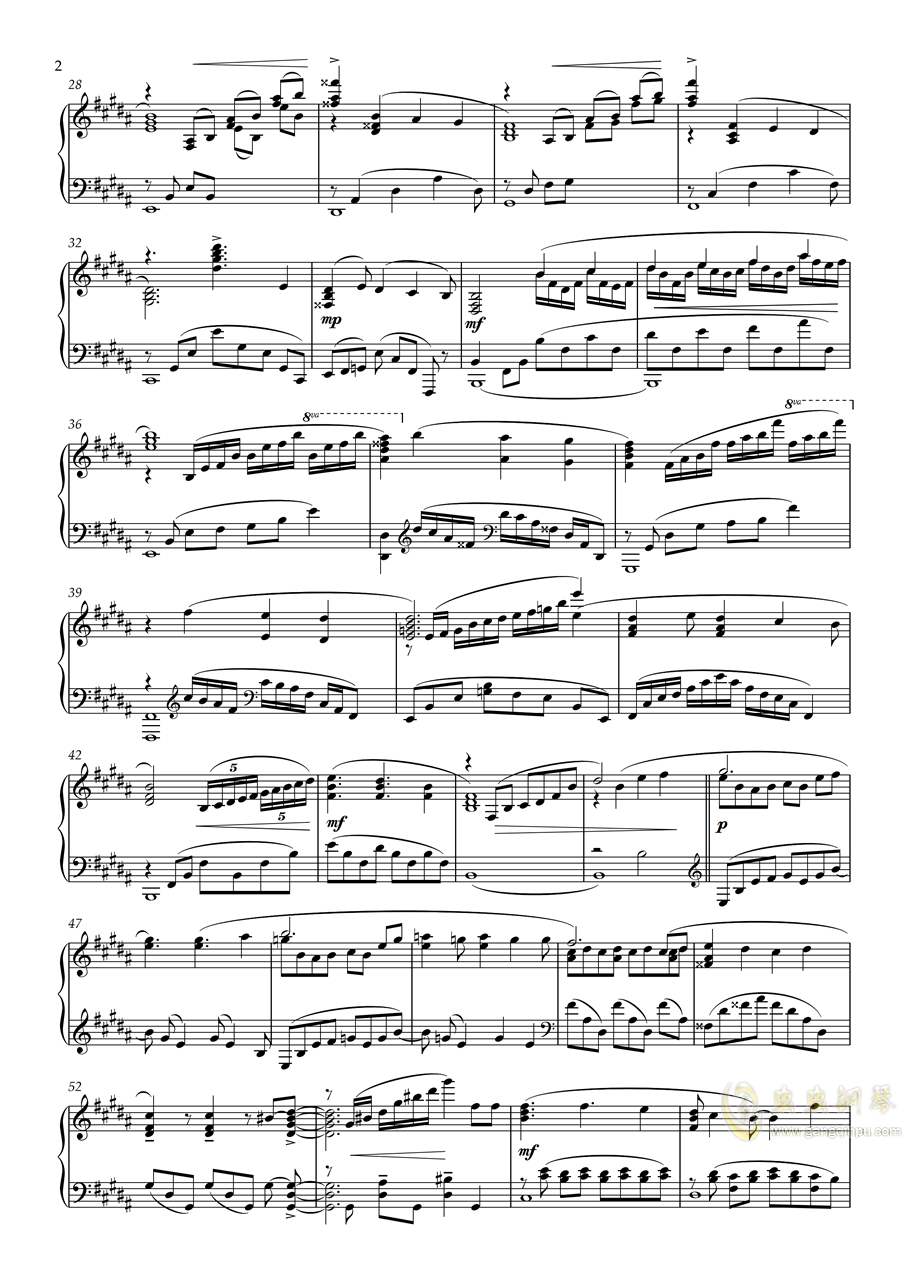 【Animenz】Sayonara Memories - Supercell 再见了,回忆钢琴谱 第2页
