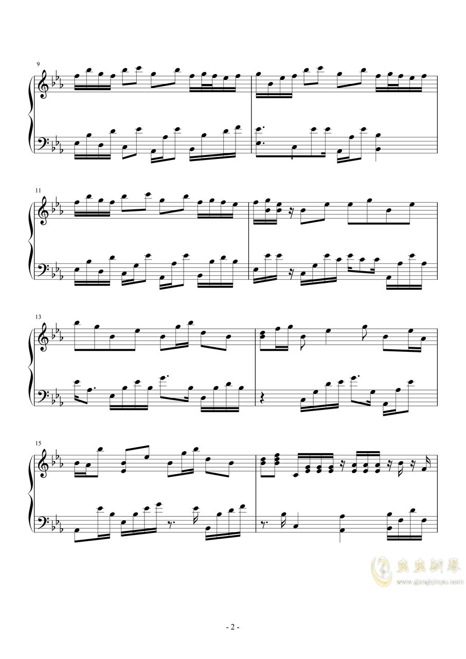夏之风钢琴谱 第2页