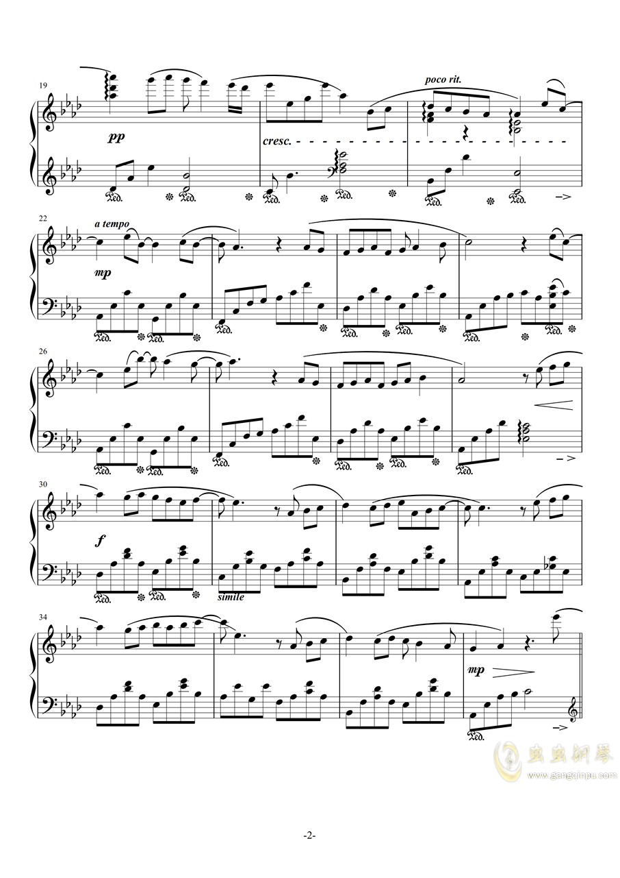 遇见(完整版)钢琴谱 第2页
