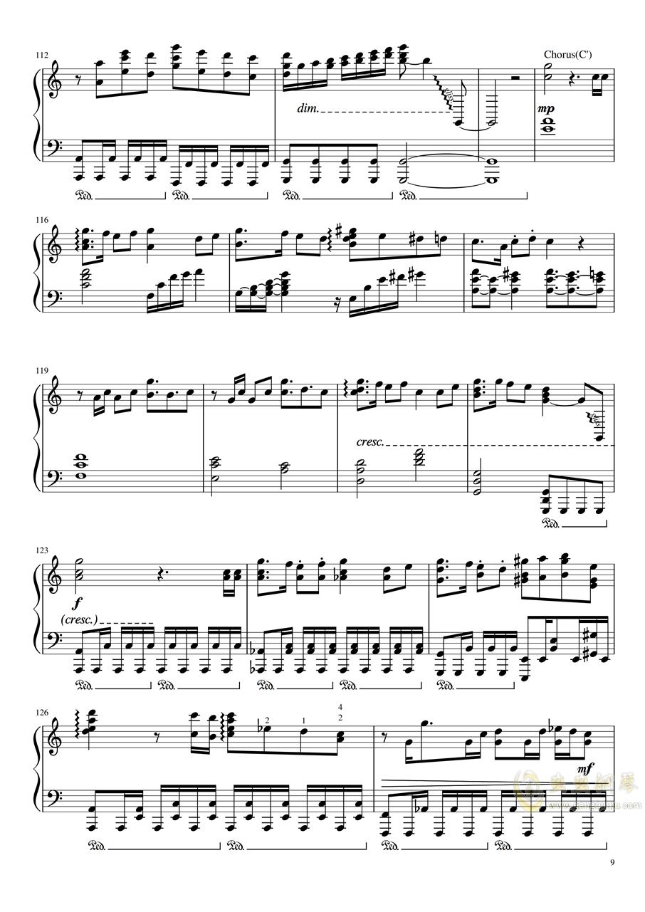 给妹妹写了首曲子作为她的16岁生日礼物钢琴谱 第9页