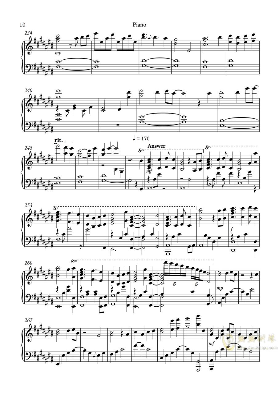 白色相簿2组曲 OPs钢琴谱 第10页