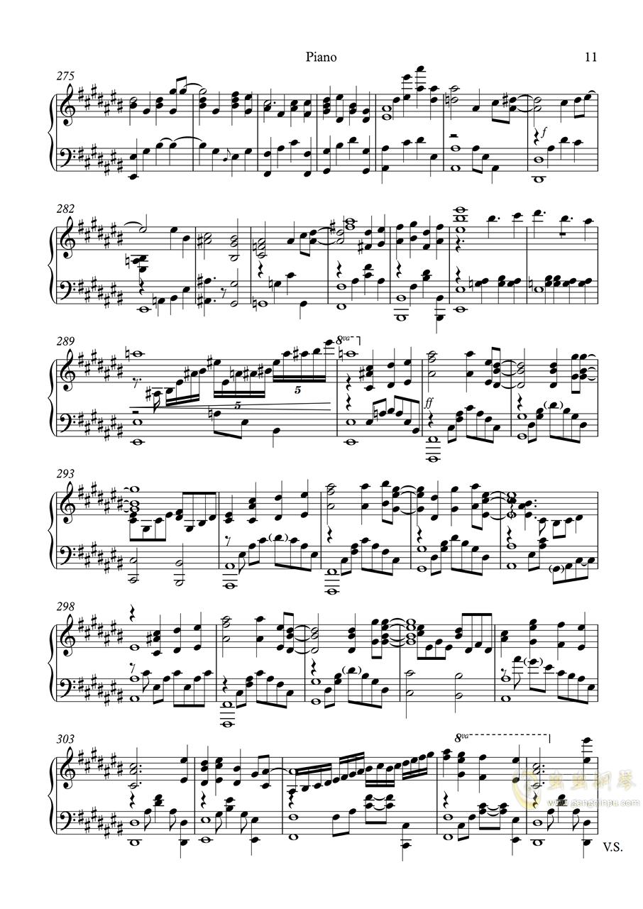 白色相簿2组曲 OPs钢琴谱 第11页