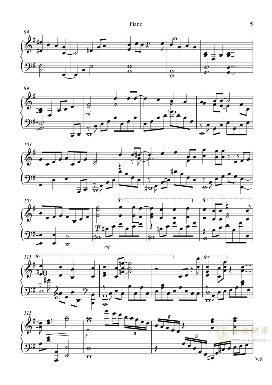 白色相簿2组曲 OPs钢琴谱 第5页