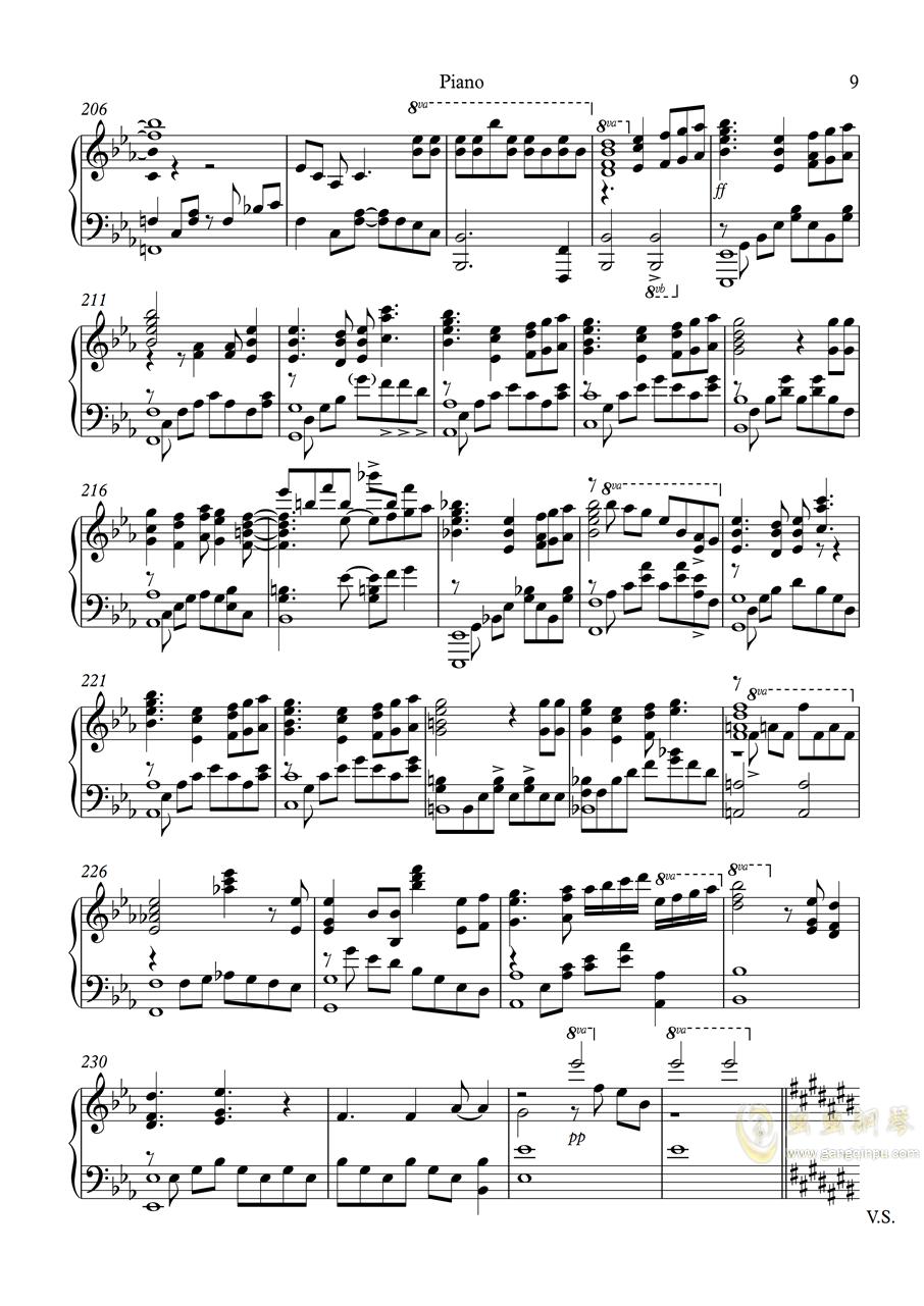 白色相簿2组曲 OPs钢琴谱 第9页