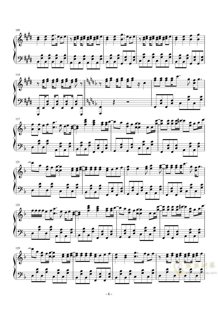 【金爆】今夜はトゥナイト钢琴谱 第6页