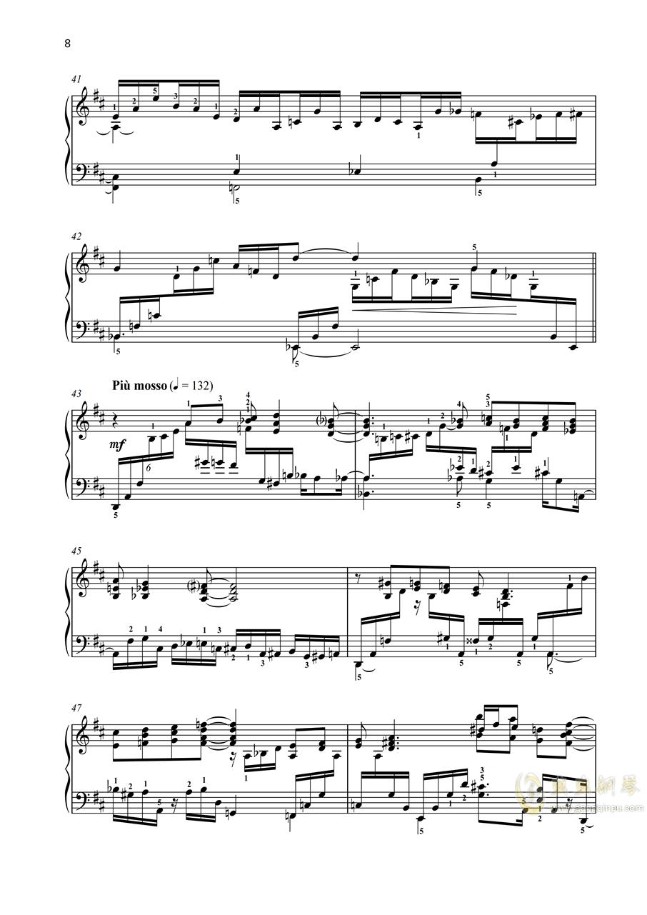 第一钢琴奏鸣曲「幻想」 第一乐章 op 39钢琴谱 第6页