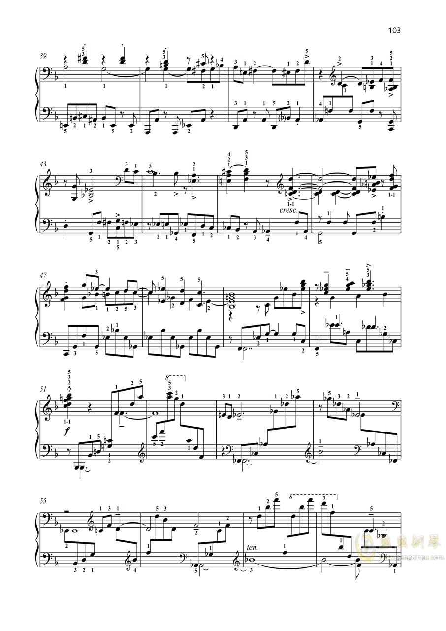 二十四首前奏曲之24 op 53钢琴谱 第3页