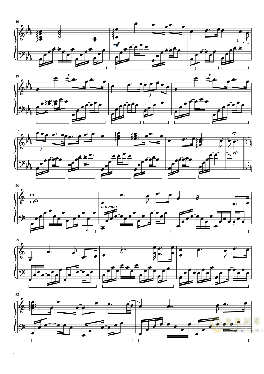 Mare d钢琴谱 第2页