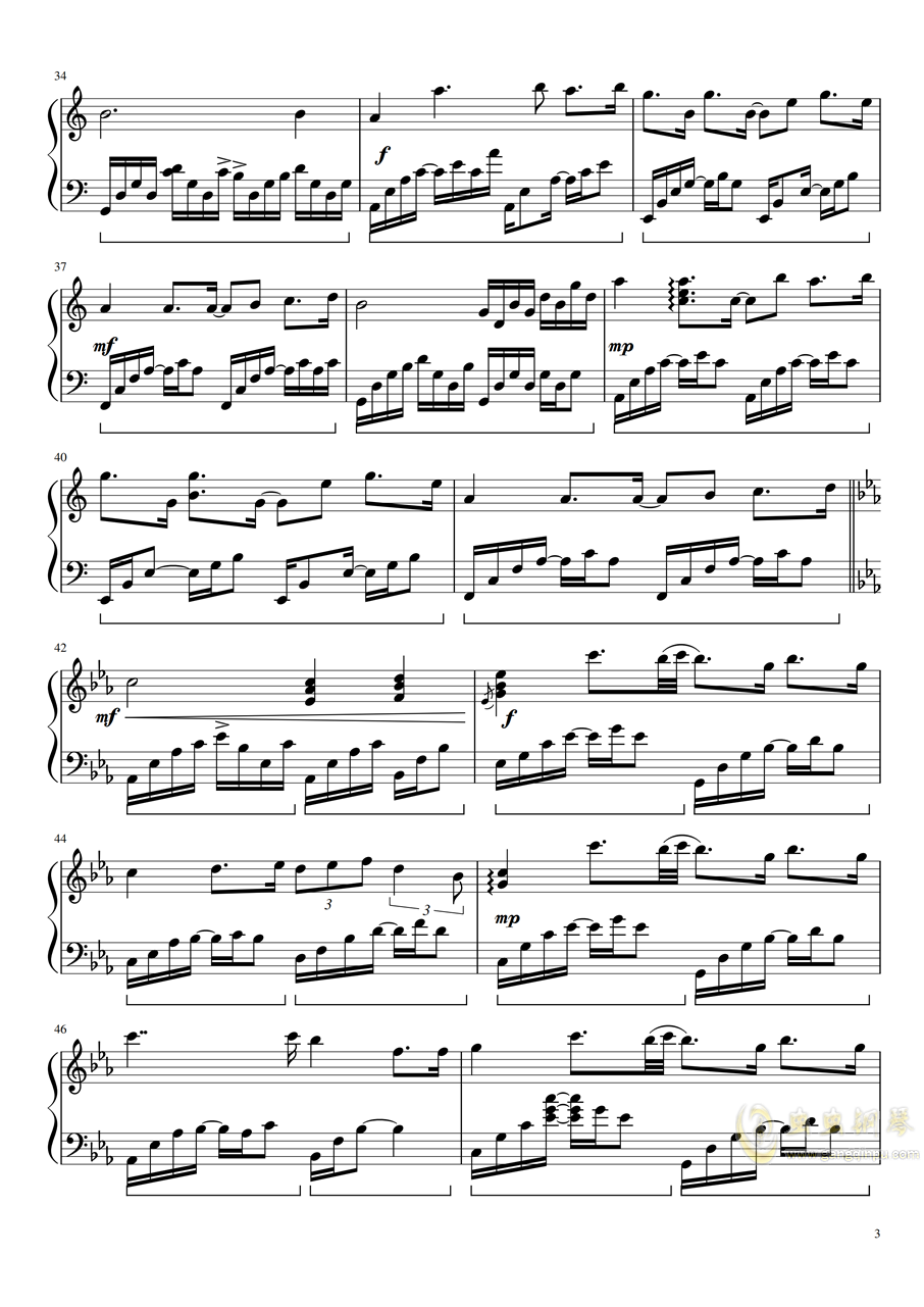 Mare d钢琴谱 第3页