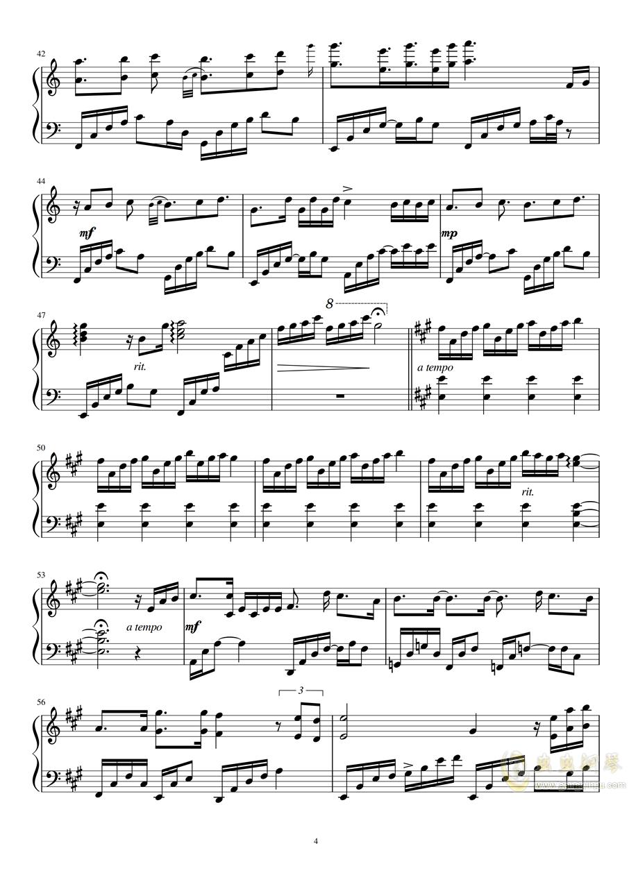 Fragments of stars钢琴谱 第4页