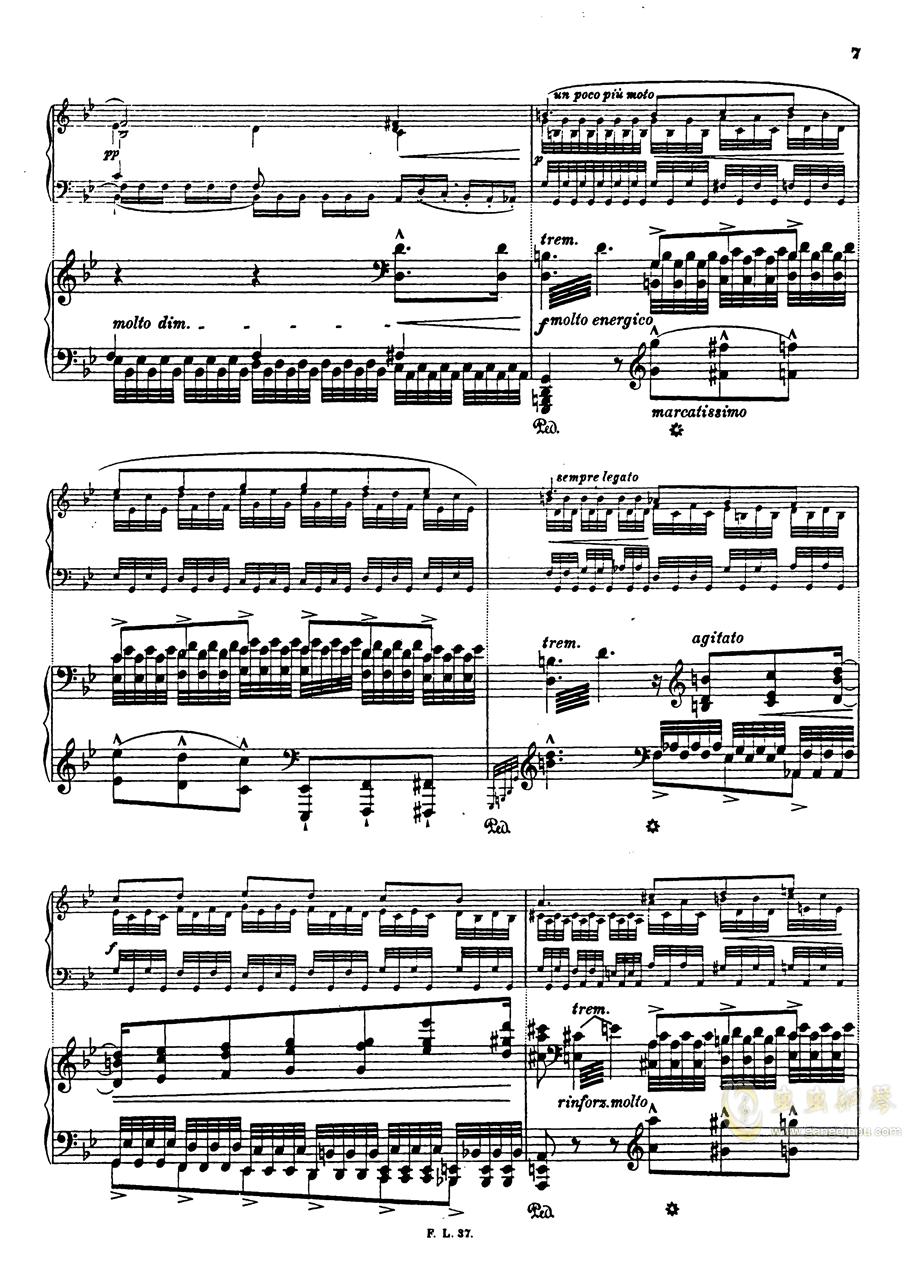 【李斯特】S.140 超技帕格尼尼练习曲钢琴谱 第10页
