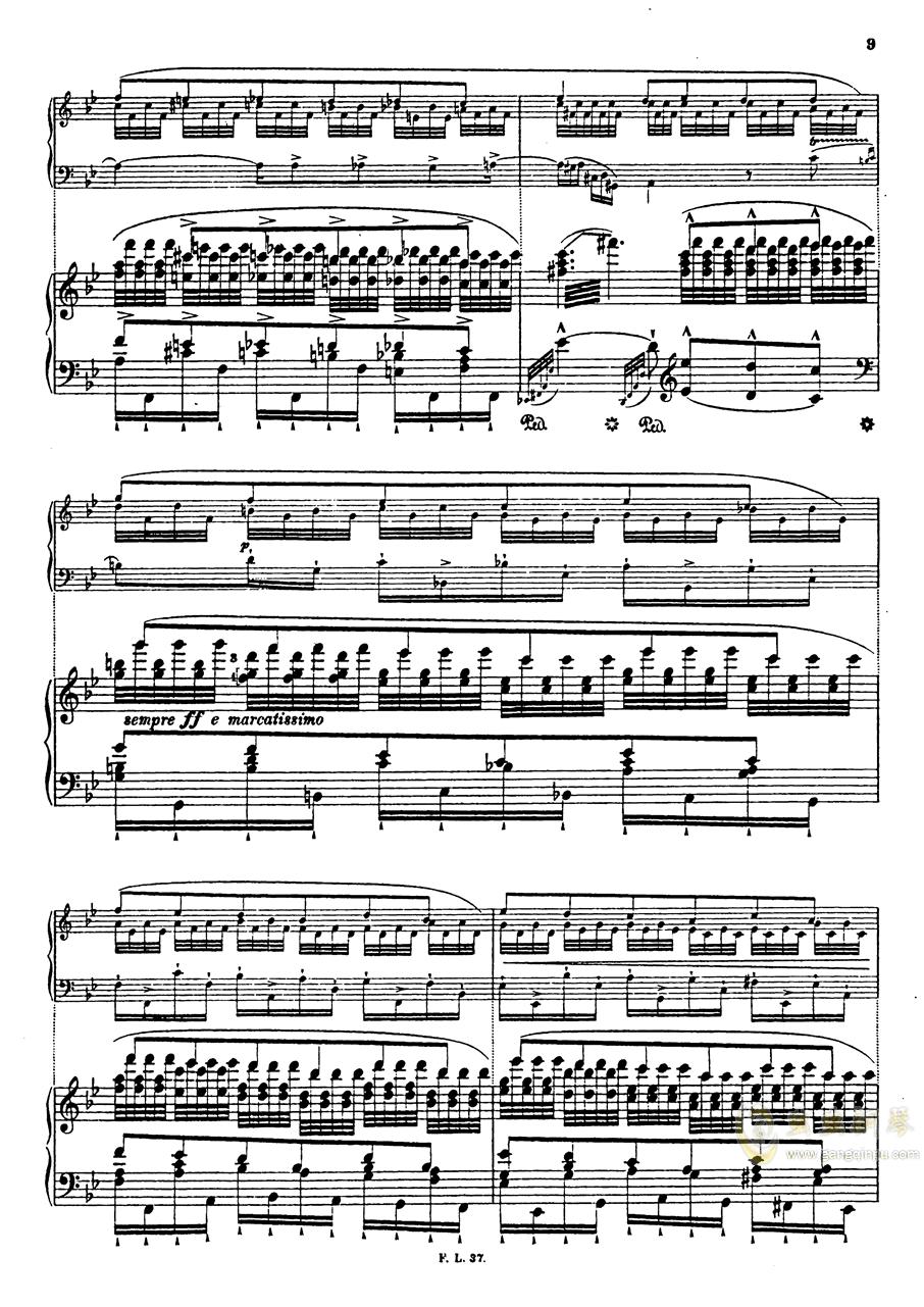 【李斯特】S.140 超技帕格尼尼练习曲钢琴谱 第12页