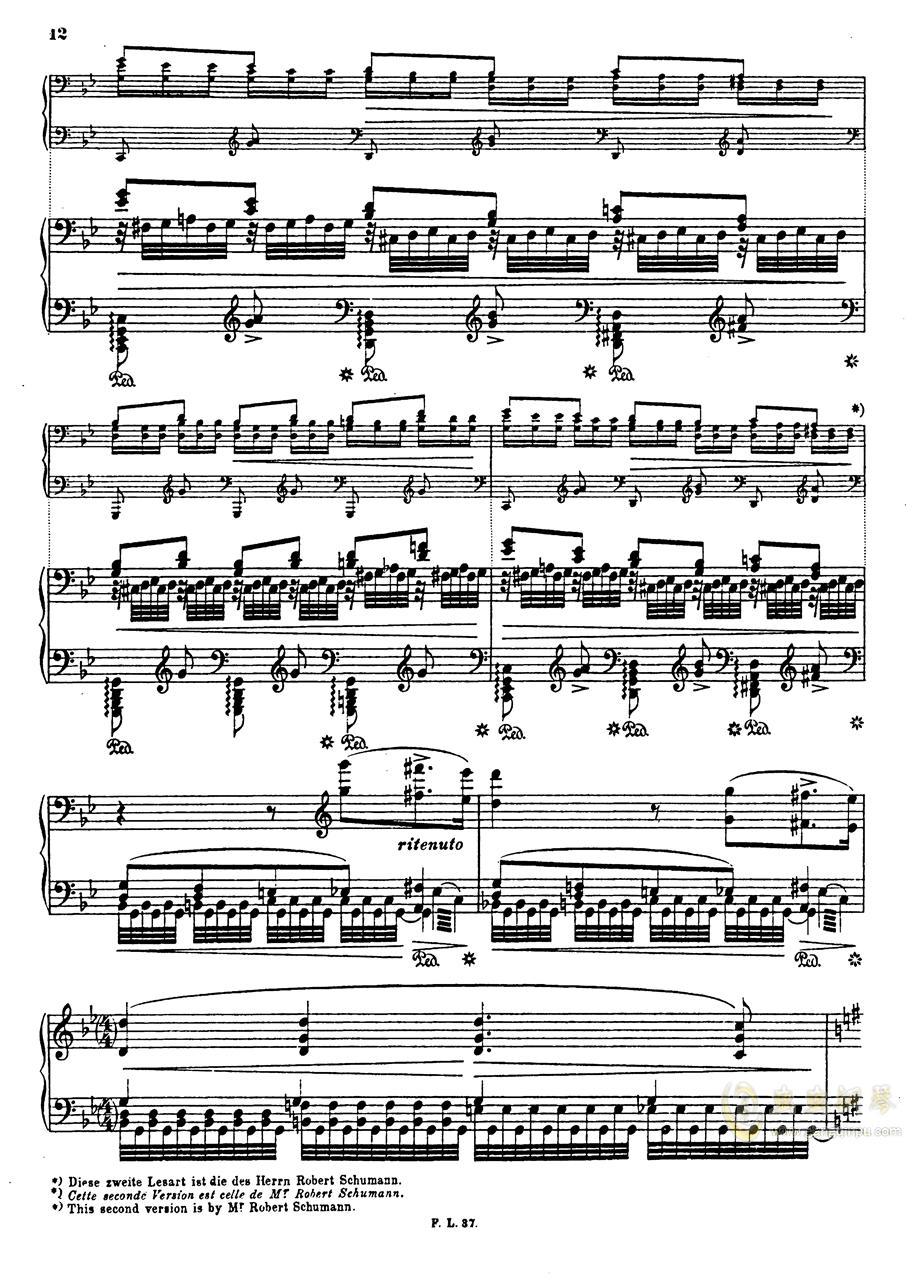 【李斯特】S.140 超技帕格尼尼练习曲钢琴谱 第15页