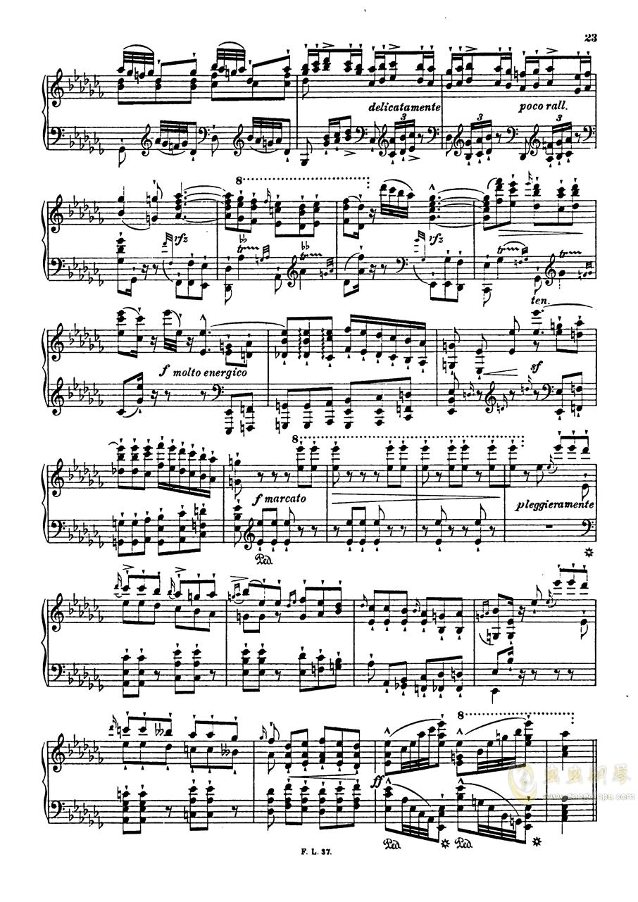 【李斯特】S.140 超技帕格尼尼练习曲钢琴谱 第25页