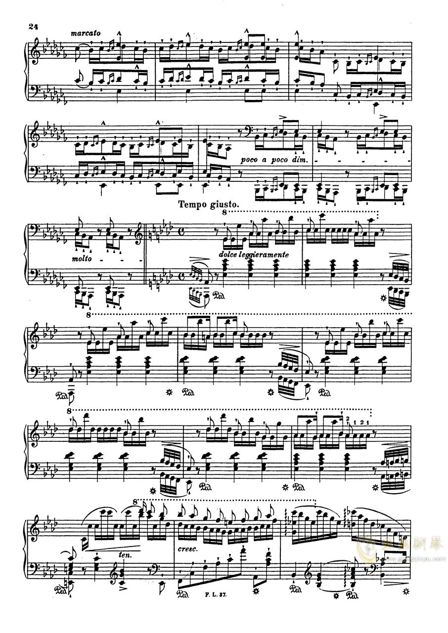 【李斯特】S.140 超技帕格尼尼练习曲钢琴谱 第26页