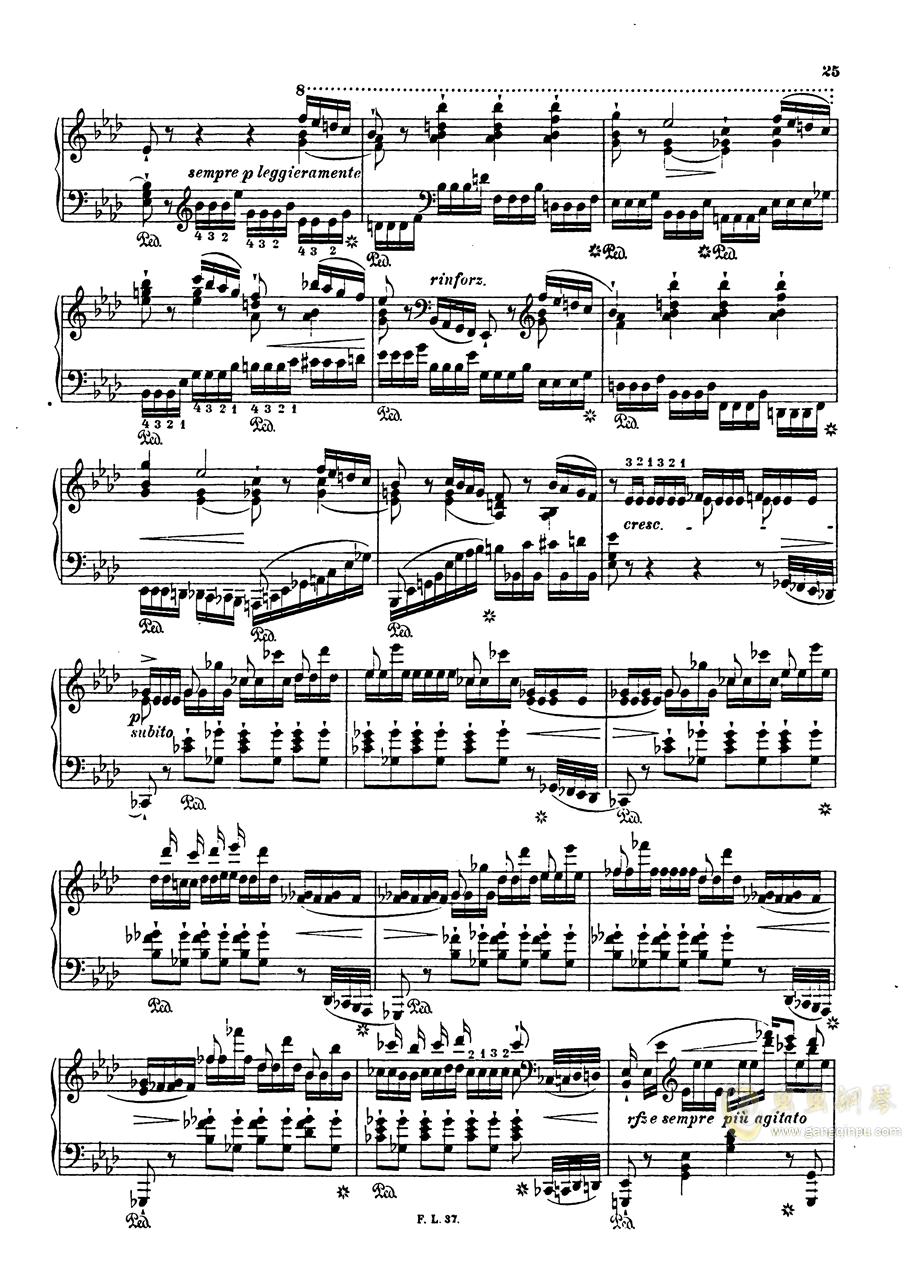 【李斯特】S.140 超技帕格尼尼练习曲钢琴谱 第27页