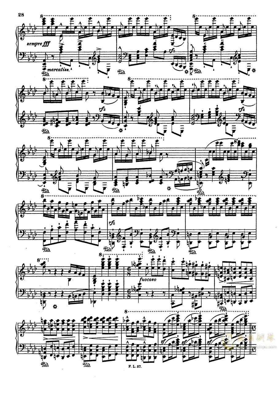 【李斯特】S.140 超技帕格尼尼练习曲钢琴谱 第30页