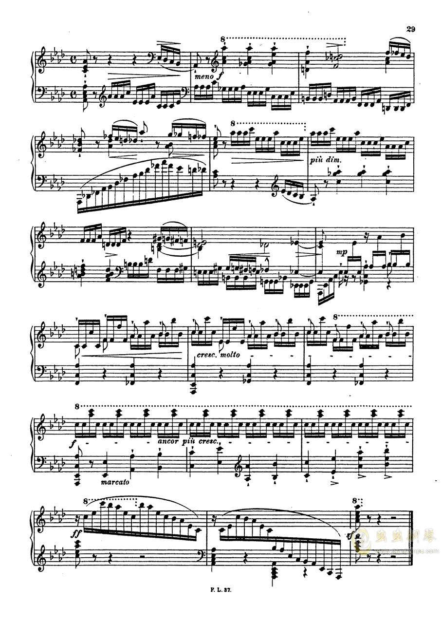 【李斯特】S.140 超技帕格尼尼练习曲钢琴谱 第31页