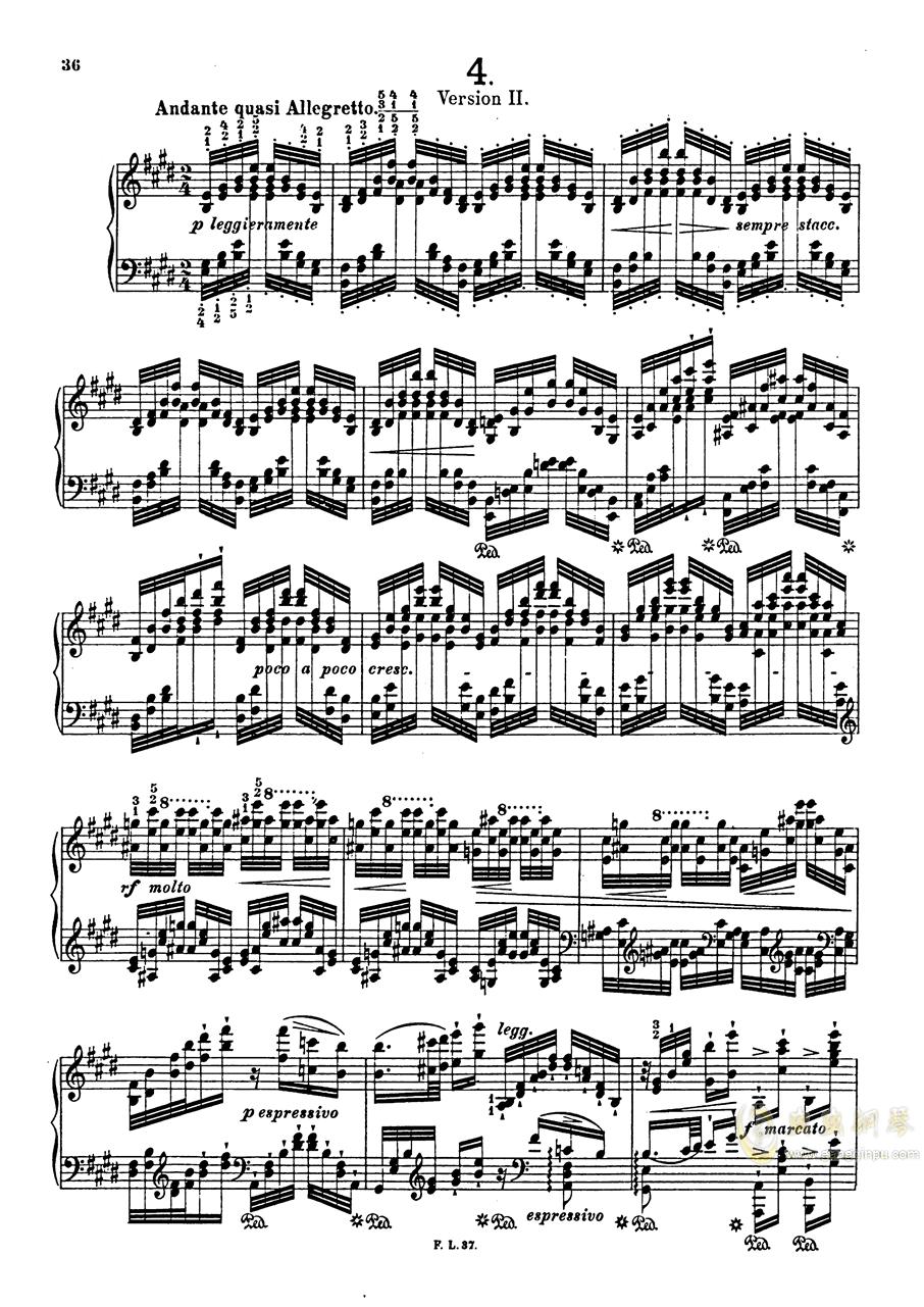 【李斯特】S.140 超技帕格尼尼练习曲钢琴谱 第38页