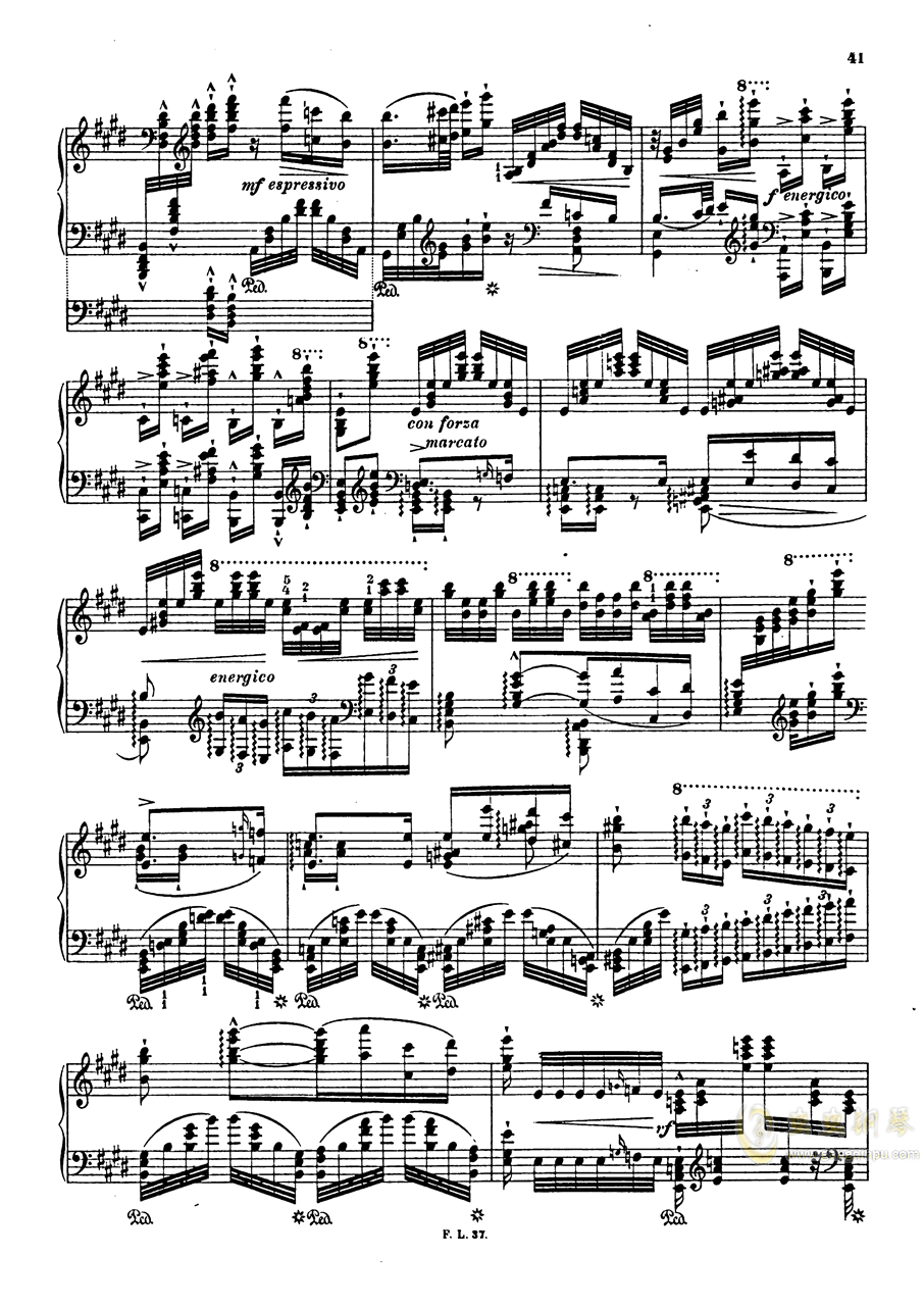 【李斯特】S.140 超技帕格尼尼练习曲钢琴谱 第43页