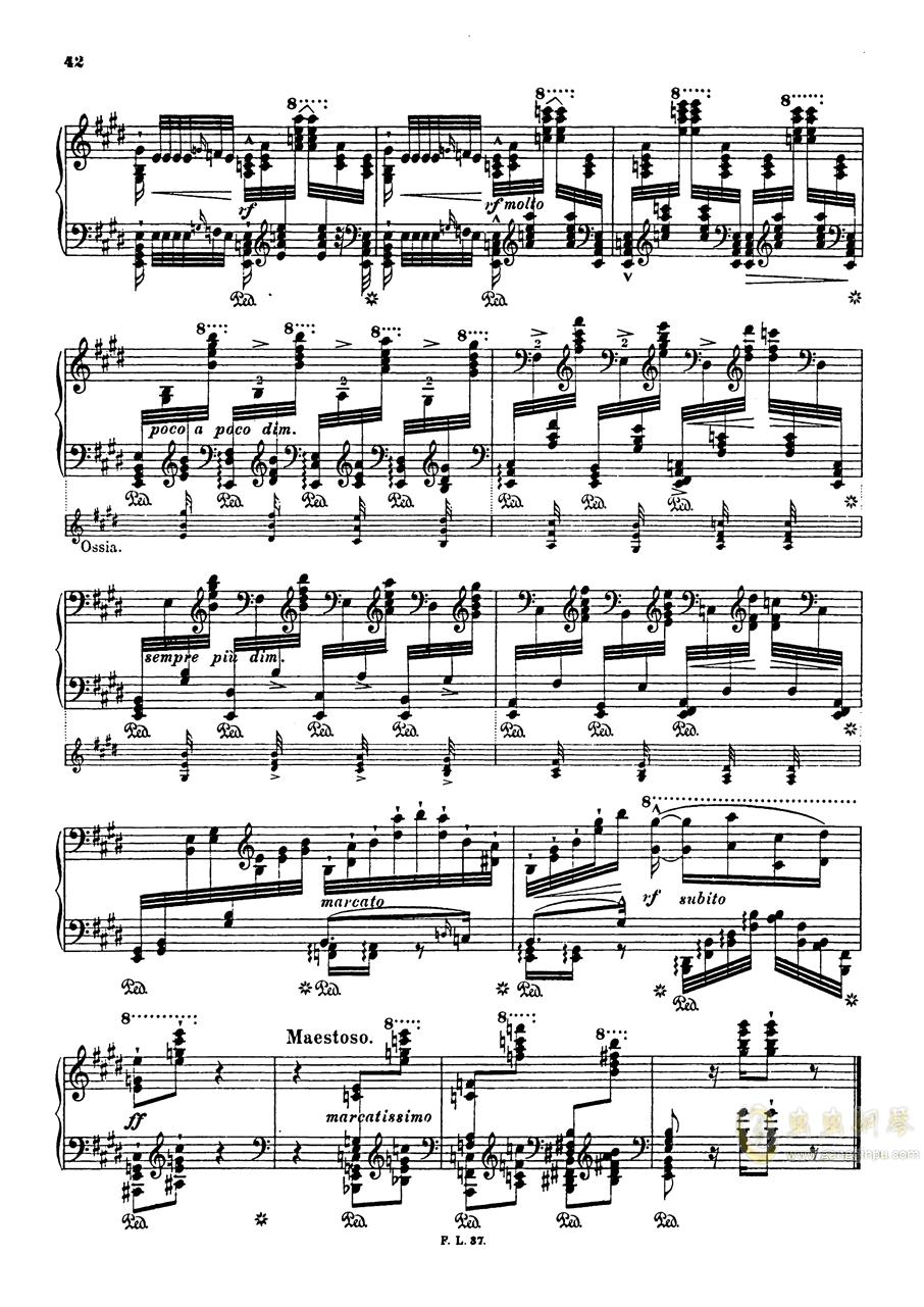 【李斯特】S.140 超技帕格尼尼练习曲钢琴谱 第44页