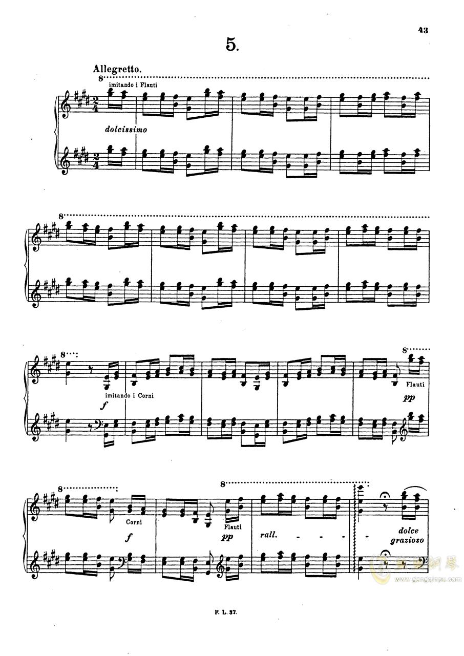 【李斯特】S.140 超技帕格尼尼练习曲钢琴谱 第45页