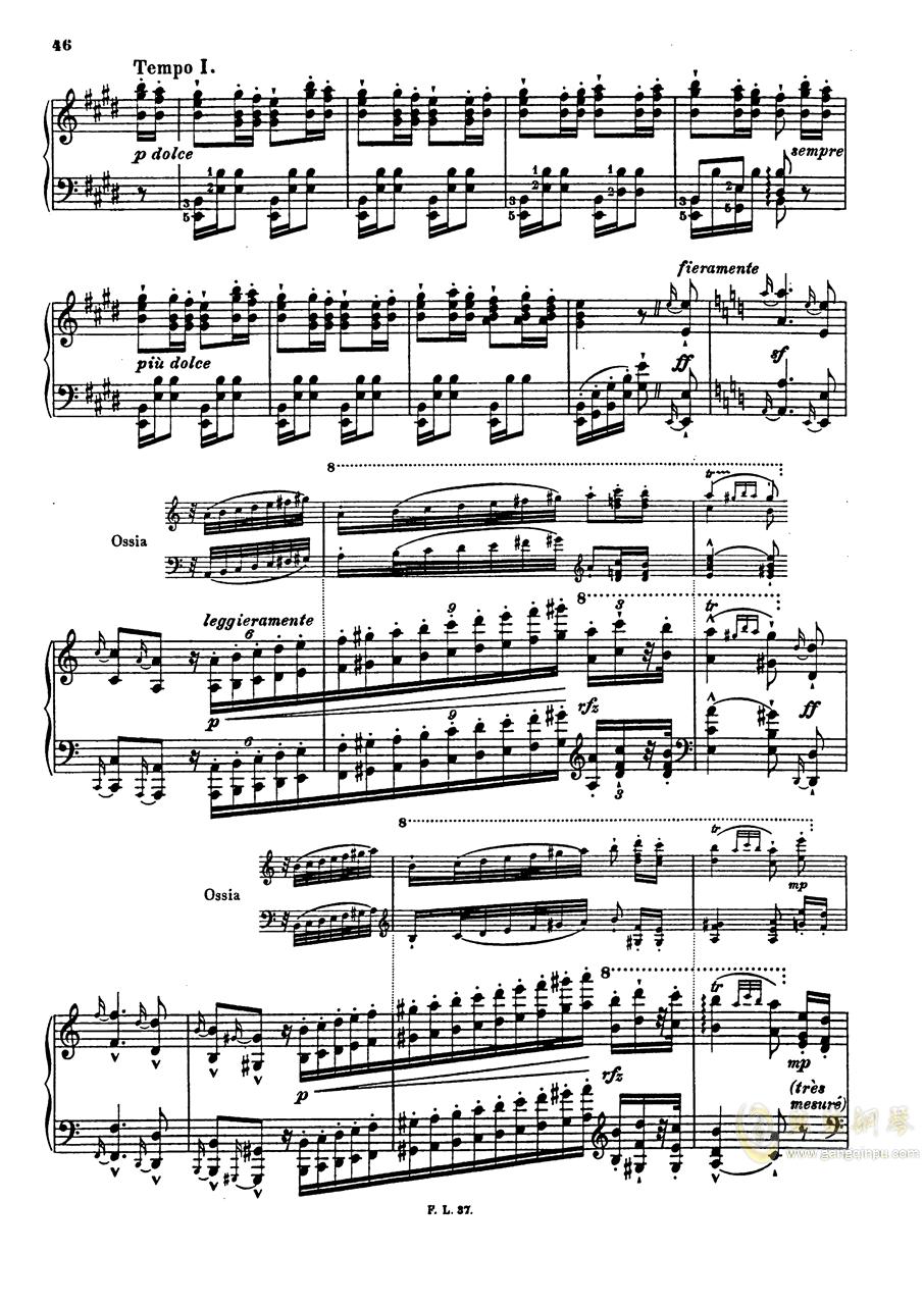 【李斯特】S.140 超技帕格尼尼练习曲钢琴谱 第48页