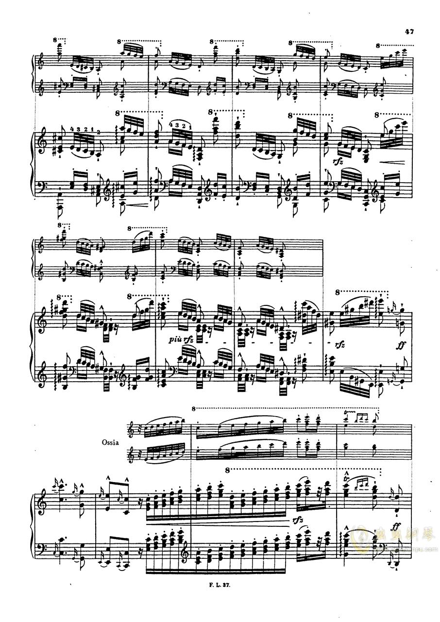 【李斯特】S.140 超技帕格尼尼练习曲钢琴谱 第49页
