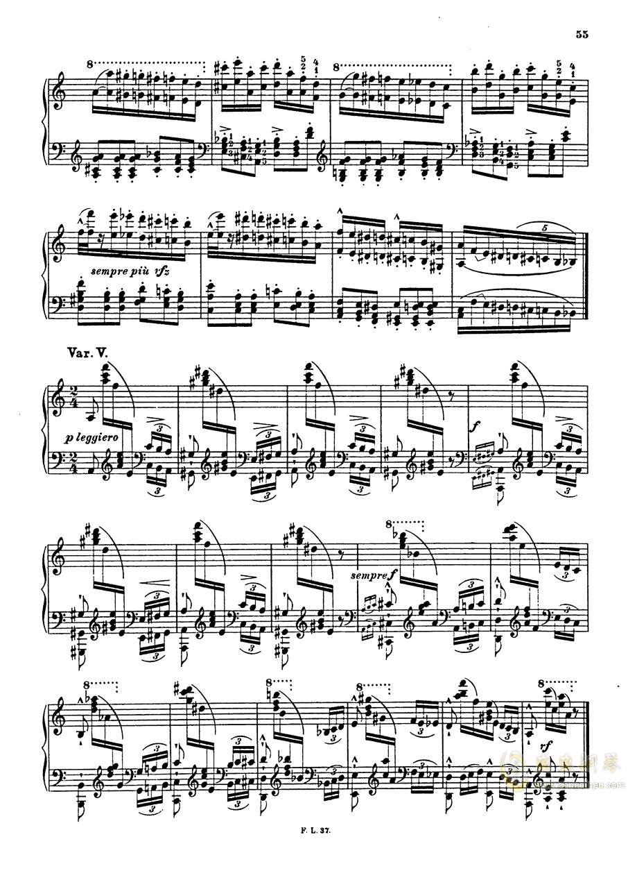【李斯特】S.140 超技帕格尼尼练习曲钢琴谱 第57页