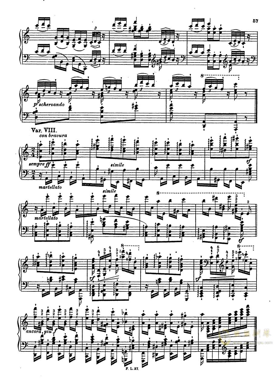 【李斯特】S.140 超技帕格尼尼练习曲钢琴谱 第59页