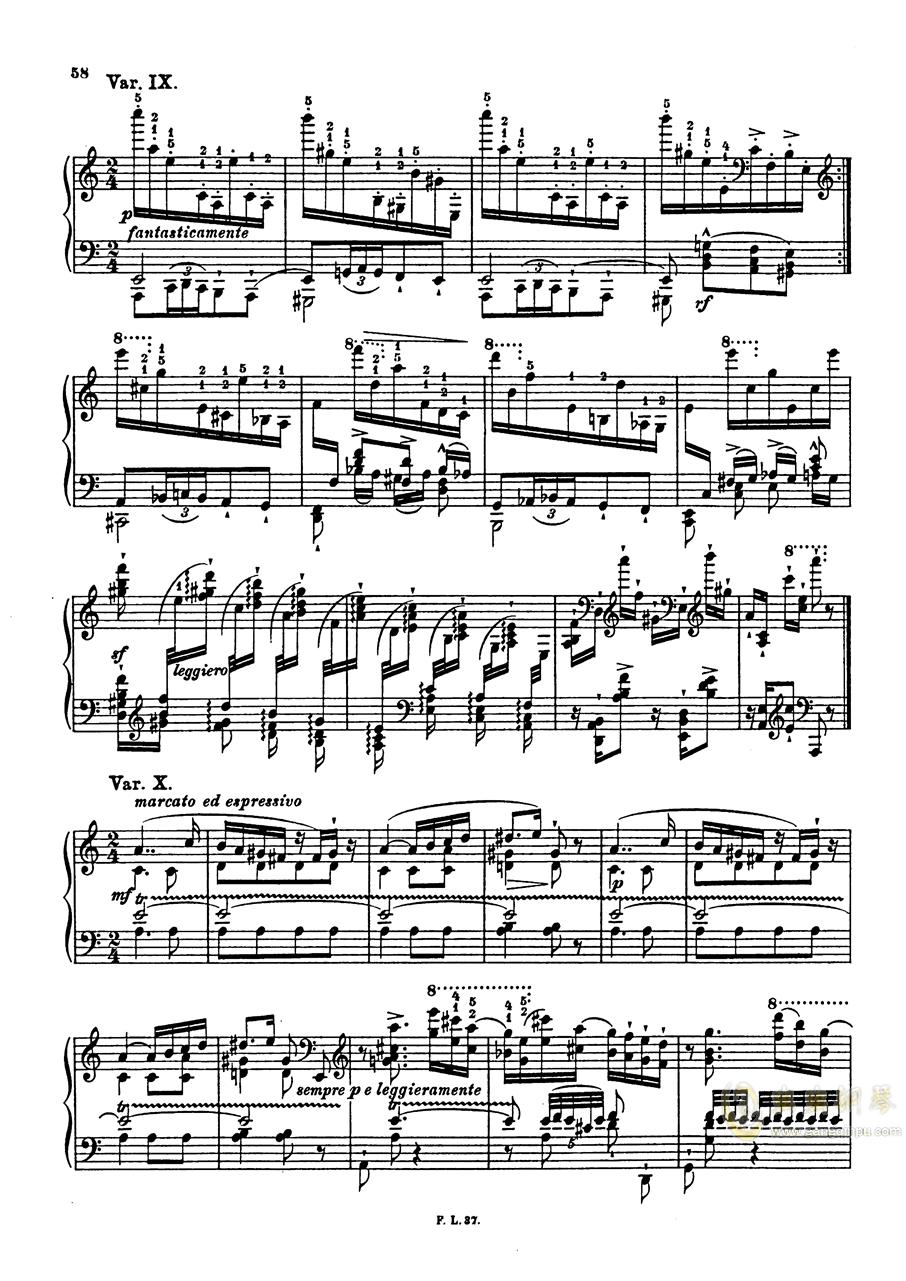 【李斯特】S.140 超技帕格尼尼练习曲钢琴谱 第60页