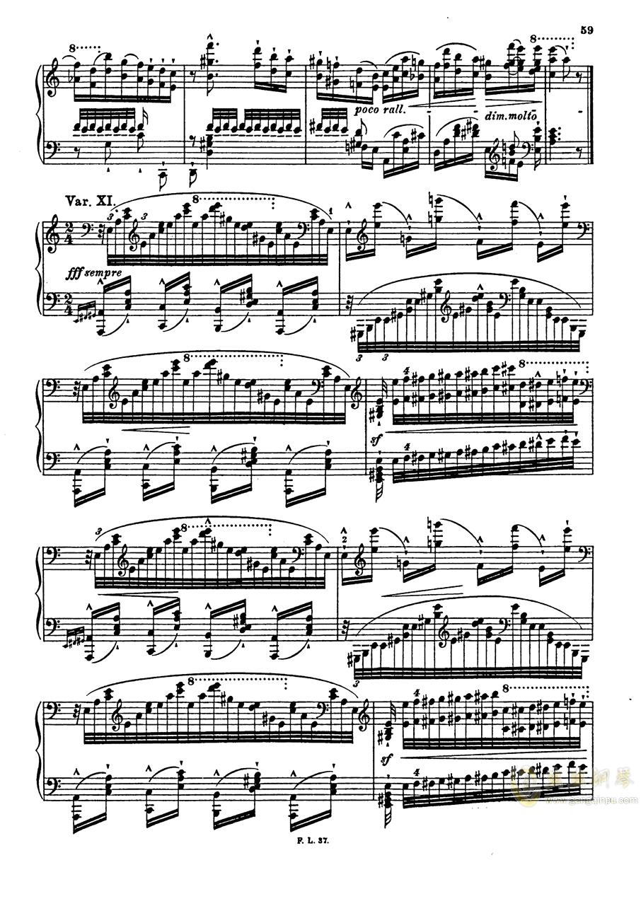 【李斯特】S.140 超技帕格尼尼练习曲钢琴谱 第61页