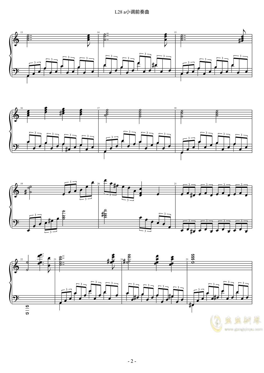 a小调练习曲钢琴谱 第2页