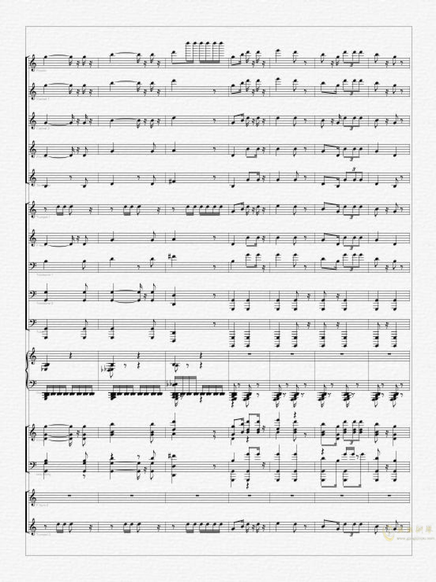 义勇军进行曲钢琴谱 第4页