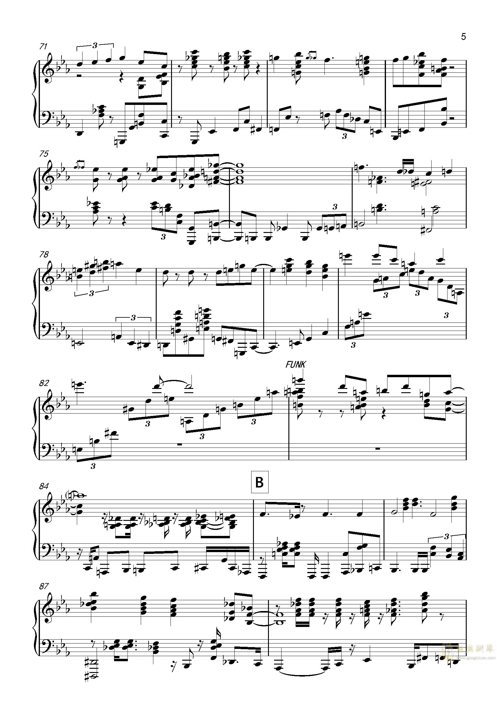 森林姑娘钢琴谱 第5页