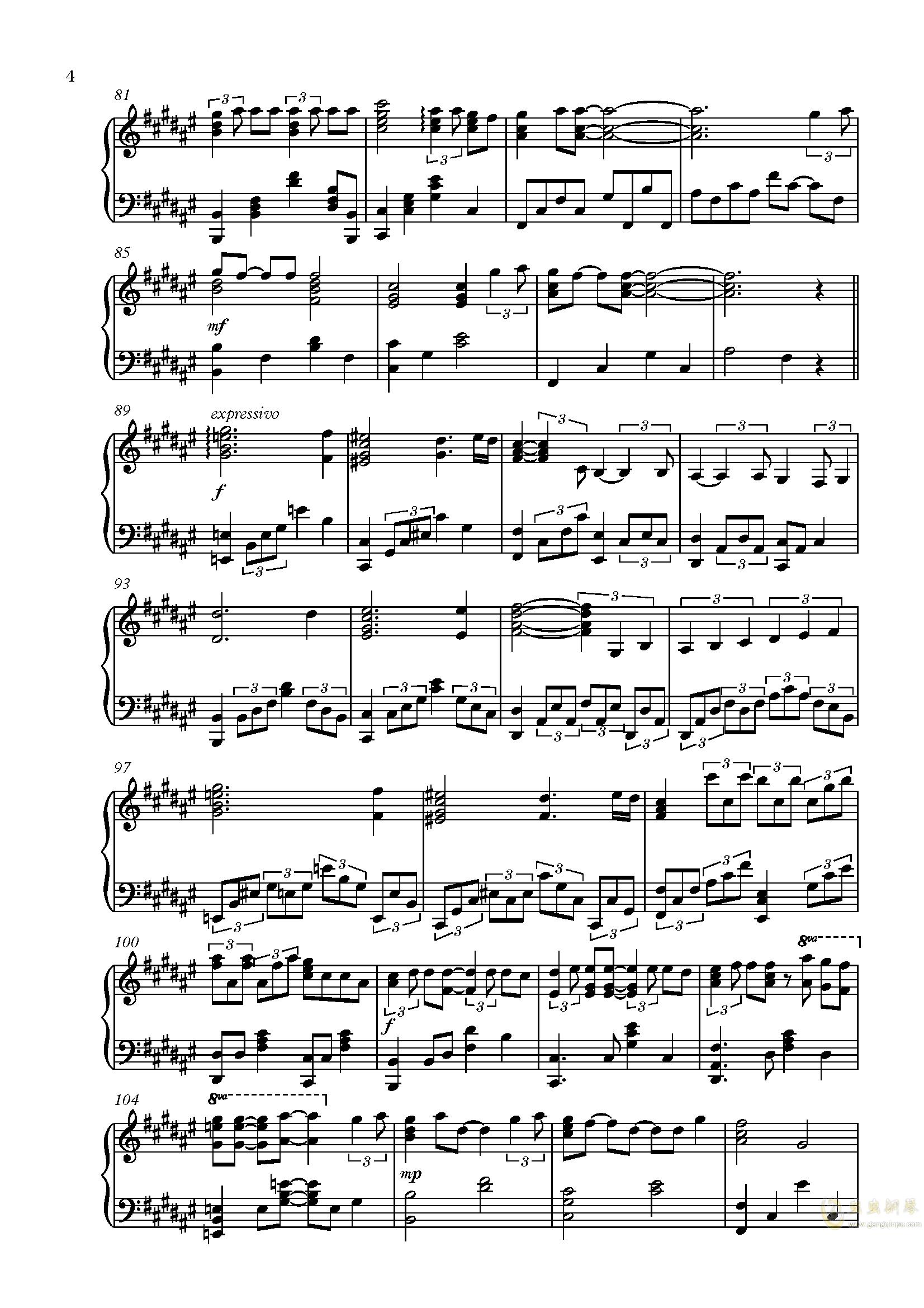 Secret Base - Anohana ED 未闻花名/我们仍未知道那天所看见的花的名字钢琴谱 第4页