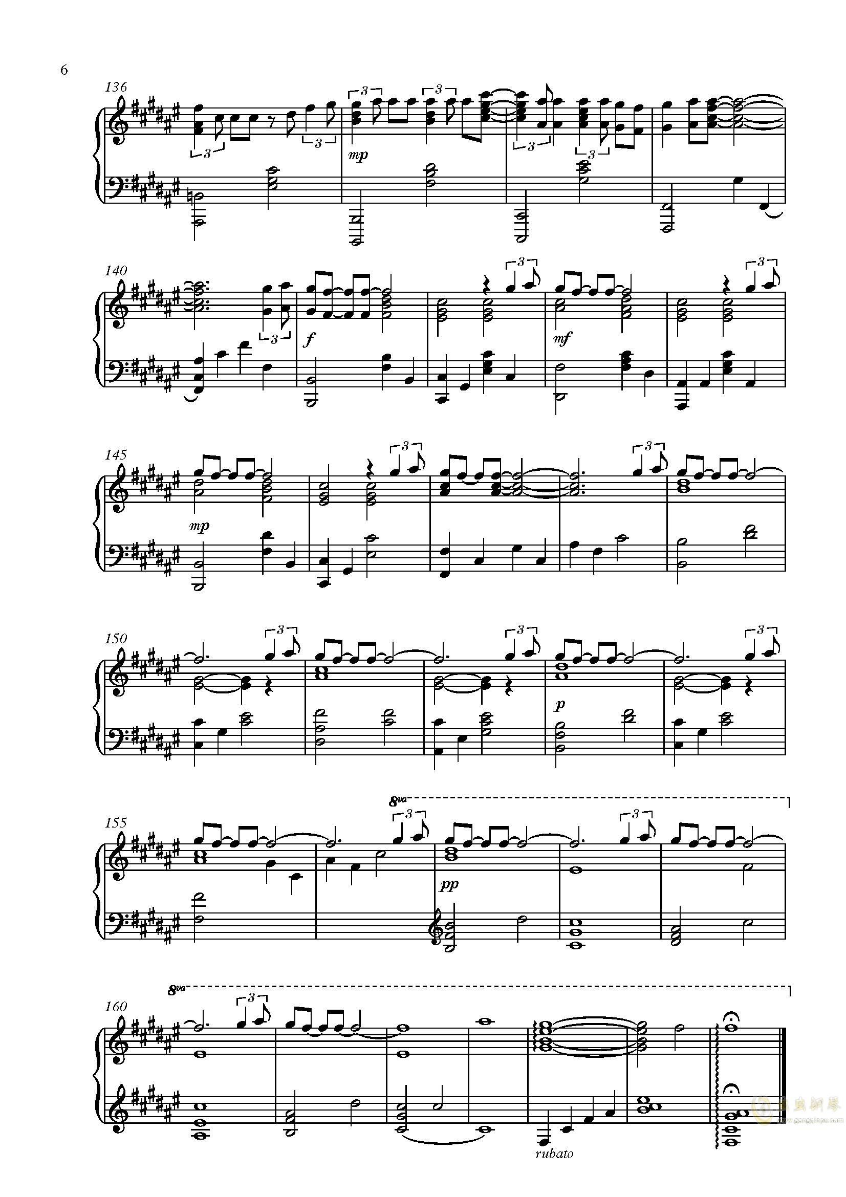 Secret Base - Anohana ED 未闻花名/我们仍未知道那天所看见的花的名字钢琴谱 第6页