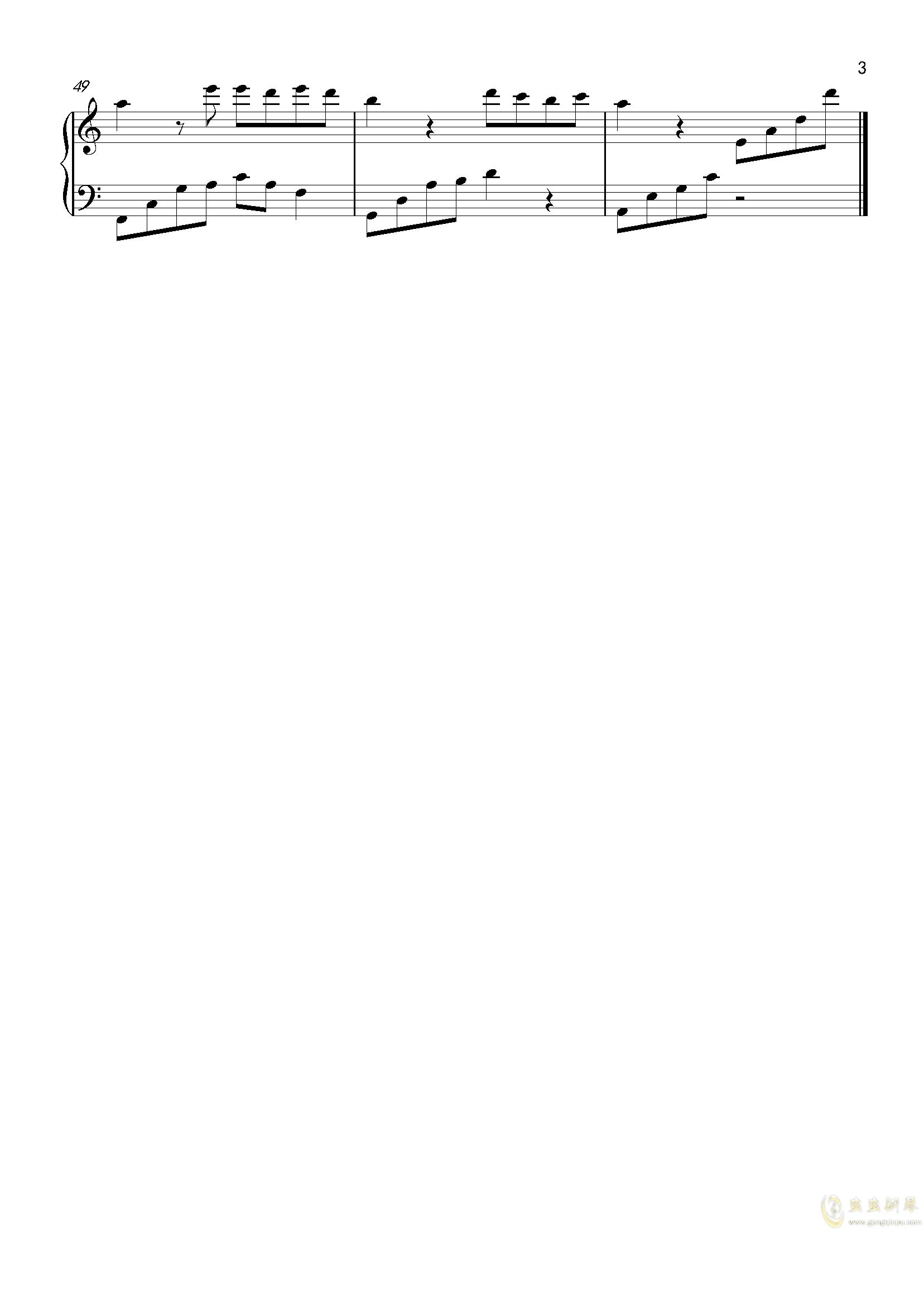 夜的钢琴曲5钢琴谱 第3页