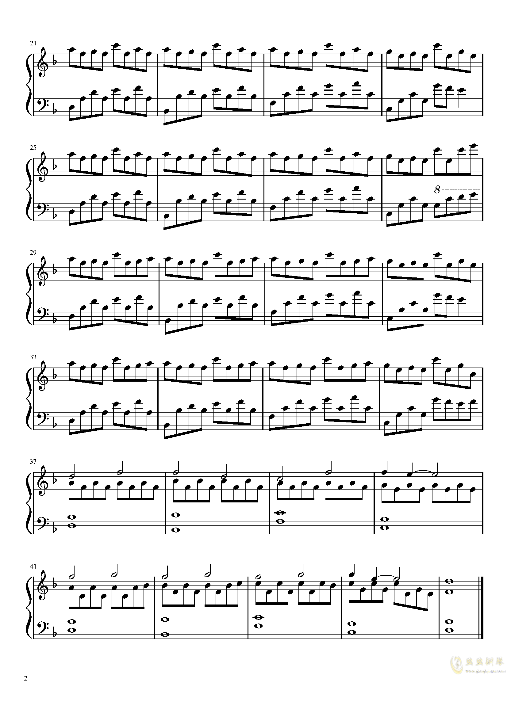 Dusk钢琴谱 第2页