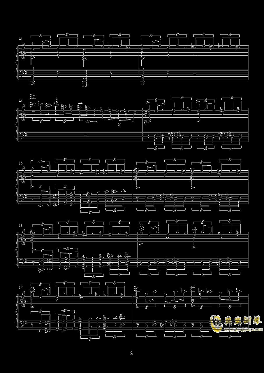 练习曲钢琴谱 第3页