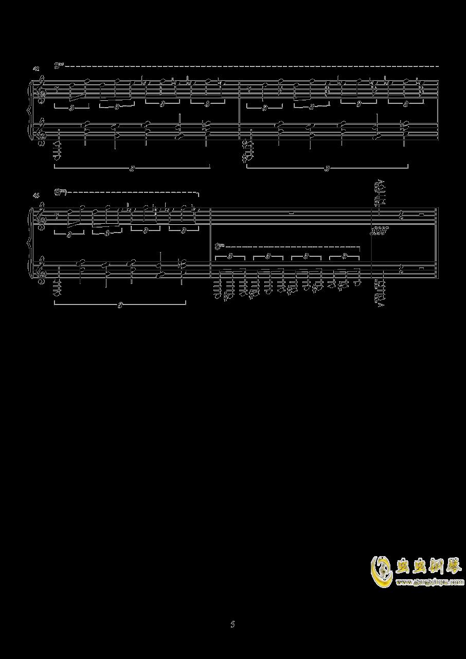 练习曲钢琴谱 第5页