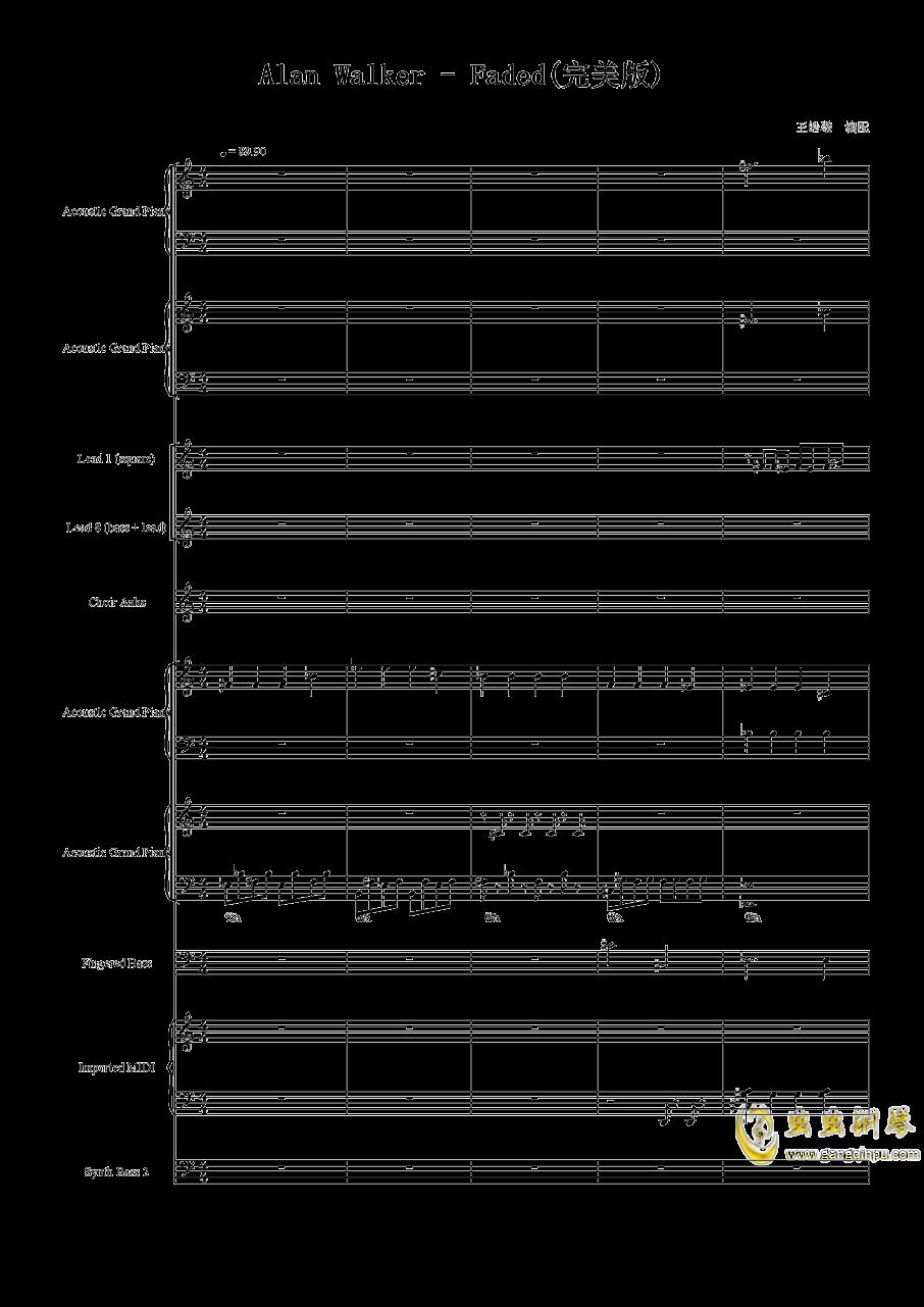 Faded钢琴谱 第1页