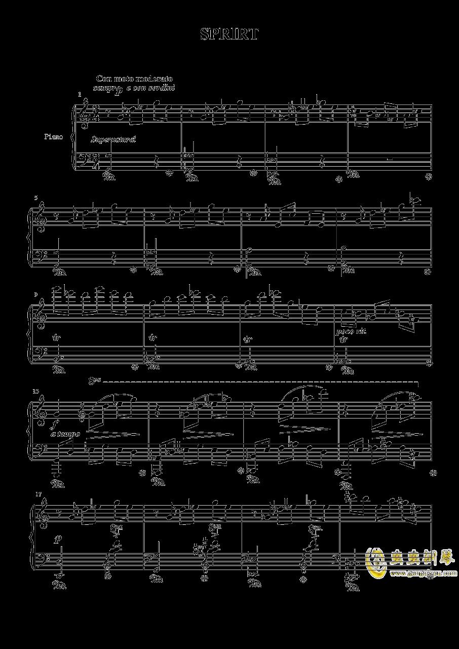 月夜墓茔钢琴谱 第1页