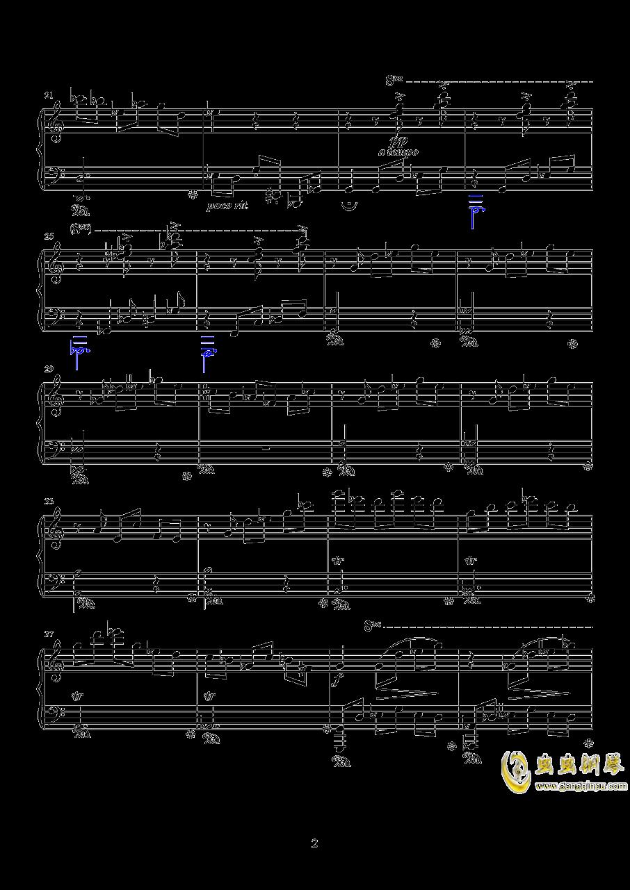月夜墓茔钢琴谱 第2页