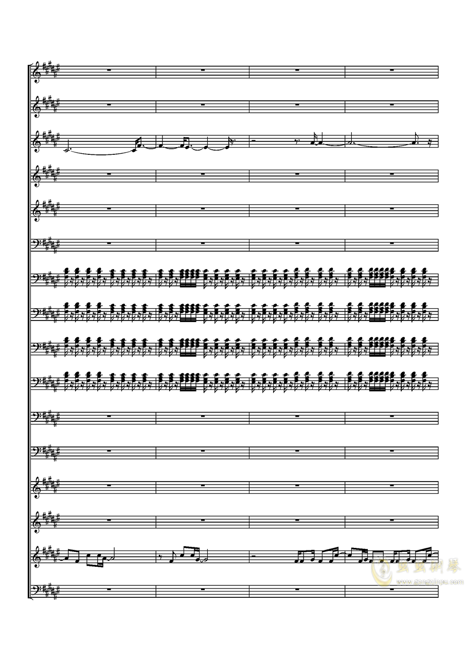 Faded钢琴谱 第8页