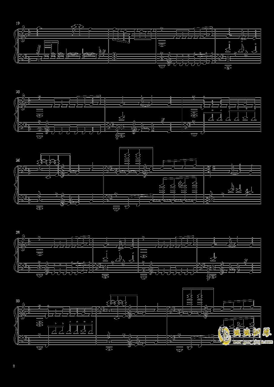 静かと怒りの海钢琴谱 第2页