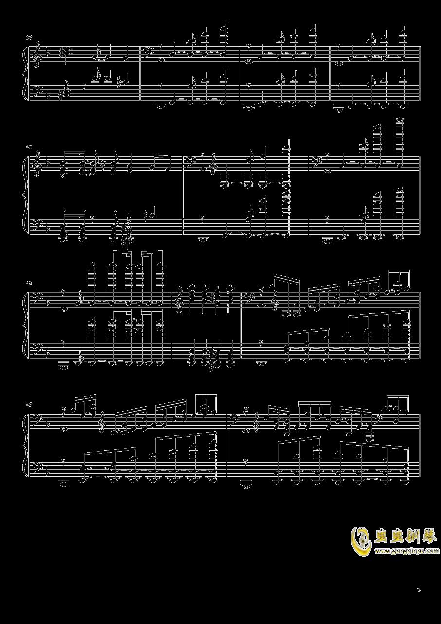 静かと怒りの海钢琴谱 第3页